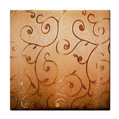 Texture Material Textile Gold Tile Coasters