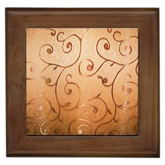 Texture Material Textile Gold Framed Tiles