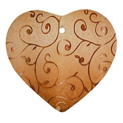 Texture Material Textile Gold Ornament (heart)