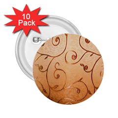 Texture Material Textile Gold 2 25  Buttons (10 Pack)