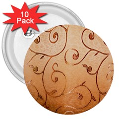 Texture Material Textile Gold 3  Buttons (10 Pack)