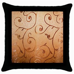 Texture Material Textile Gold Throw Pillow Case (black)