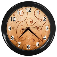 Texture Material Textile Gold Wall Clocks (black)