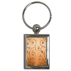 Texture Material Textile Gold Key Chains (rectangle)