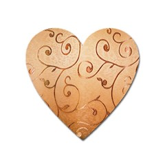 Texture Material Textile Gold Heart Magnet