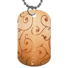 Texture Material Textile Gold Dog Tag (one Side)