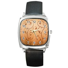 Texture Material Textile Gold Square Metal Watch