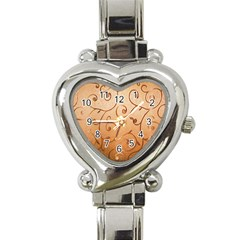 Texture Material Textile Gold Heart Italian Charm Watch