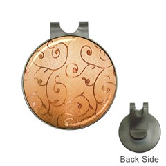 Texture Material Textile Gold Hat Clips with Golf Markers