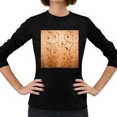Texture Material Textile Gold Women s Long Sleeve Dark T Shirts