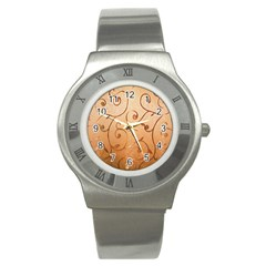 Texture Material Textile Gold Stainless Steel Watch