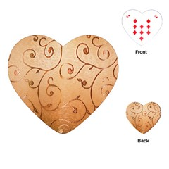 Texture Material Textile Gold Playing Cards (heart)