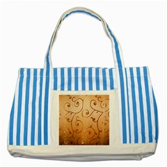 Texture Material Textile Gold Striped Blue Tote Bag
