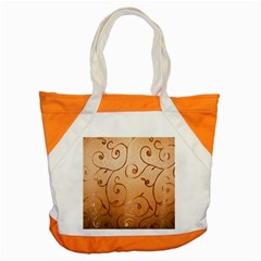 Texture Material Textile Gold Accent Tote Bag