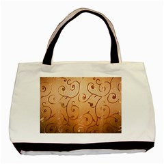 Texture Material Textile Gold Basic Tote Bag (two Sides)