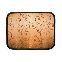 Texture Material Textile Gold Netbook Case (small)