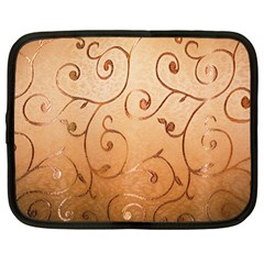 Texture Material Textile Gold Netbook Case (Large)