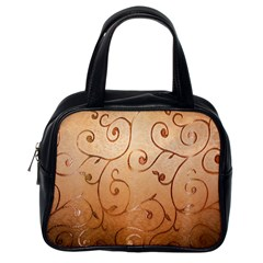 Texture Material Textile Gold Classic Handbags (one Side)