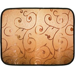 Texture Material Textile Gold Double Sided Fleece Blanket (mini)
