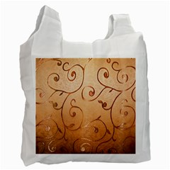 Texture Material Textile Gold Recycle Bag (Two Side)