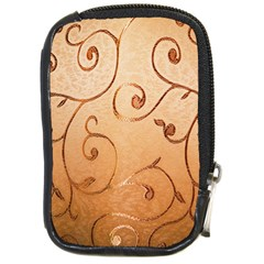 Texture Material Textile Gold Compact Camera Cases