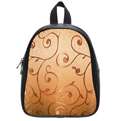 Texture Material Textile Gold School Bags (small)