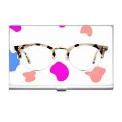 Glasses Blue Pink Brown Business Card Holders