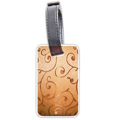 Texture Material Textile Gold Luggage Tags (one Side)
