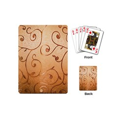 Texture Material Textile Gold Playing Cards (mini)