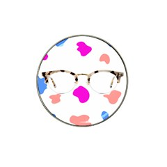 Glasses Blue Pink Brown Hat Clip Ball Marker (10 Pack)