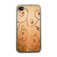 Texture Material Textile Gold Apple Iphone 4 Case (clear)