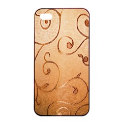Texture Material Textile Gold Apple iPhone 4/4s Seamless Case (Black)