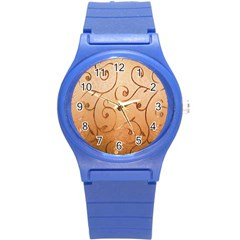 Texture Material Textile Gold Round Plastic Sport Watch (s)