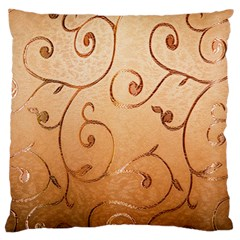 Texture Material Textile Gold Large Cushion Case (One Side)