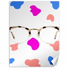 Glasses Blue Pink Brown Canvas 36  x 48