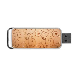 Texture Material Textile Gold Portable Usb Flash (one Side)