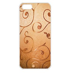 Texture Material Textile Gold Apple Iphone 5 Seamless Case (white)
