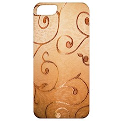 Texture Material Textile Gold Apple Iphone 5 Classic Hardshell Case
