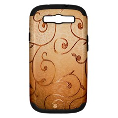 Texture Material Textile Gold Samsung Galaxy S Iii Hardshell Case (pc+silicone)