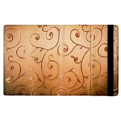 Texture Material Textile Gold Apple Ipad 3/4 Flip Case