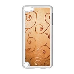 Texture Material Textile Gold Apple Ipod Touch 5 Case (white)