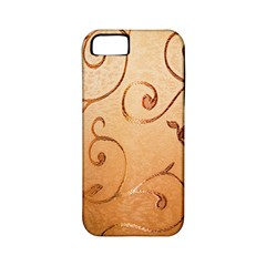 Texture Material Textile Gold Apple Iphone 5 Classic Hardshell Case (pc+silicone)