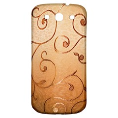 Texture Material Textile Gold Samsung Galaxy S3 S III Classic Hardshell Back Case
