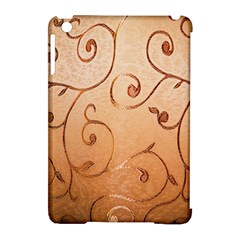 Texture Material Textile Gold Apple Ipad Mini Hardshell Case (compatible With Smart Cover)