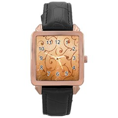 Texture Material Textile Gold Rose Gold Leather Watch