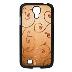 Texture Material Textile Gold Samsung Galaxy S4 I9500/ I9505 Case (black)