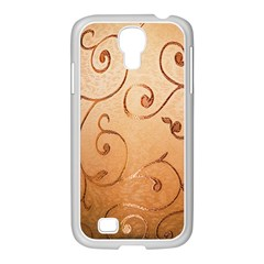Texture Material Textile Gold Samsung Galaxy S4 I9500/ I9505 Case (white)