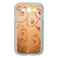 Texture Material Textile Gold Samsung Galaxy Grand DUOS I9082 Case (White)