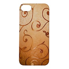 Texture Material Textile Gold Apple iPhone 5S/ SE Hardshell Case
