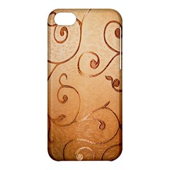 Texture Material Textile Gold Apple Iphone 5c Hardshell Case